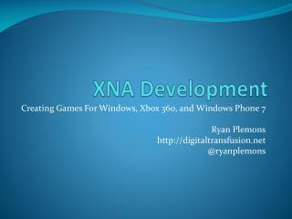 XNA Development