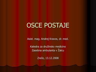 OSCE POSTAJE