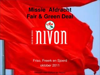 Missie  Afdracht Fair & Green Deal
