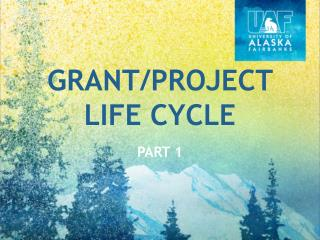 Grant/Project Life Cycle