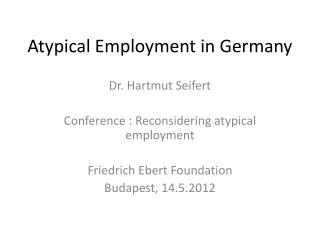 Atypical Employment in Germany