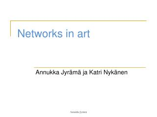 Networks  in  art