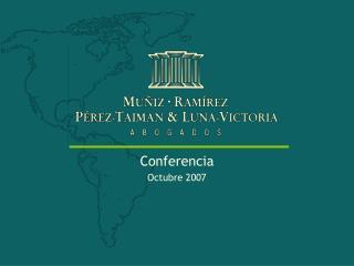 Conferencia Octubre 2007