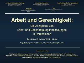 Friedrich-Schiller-Universität Jena  Institut für Soziologie