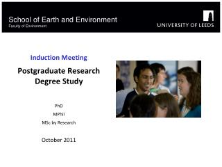 School of Earth and Environment Faculty of Environment