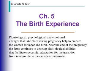 Dr. Areefa Al Bahri