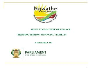SELECT COMMITTEE OF FINANCE