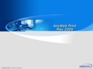 AnyWeb Print May 2009
