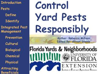 Control   Yard Pests Responsibly