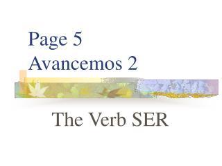 Page 5 Avancemos 2
