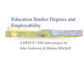 Education Studies Degrees and Employability