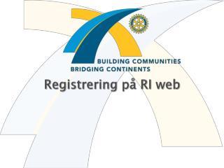 Registrering på RI web