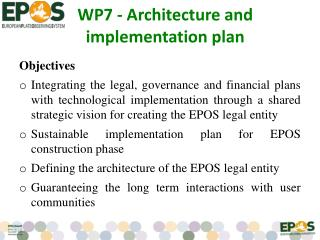 WP7 - Architecture and implementation plan