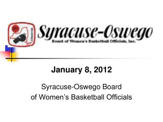 Syracuse-Oswego Board of Women's Basketball Officials