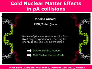 Cold Nuclear Matter Effects  in pA collisions