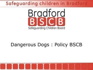 Dangerous Dogs : Policy BSCB