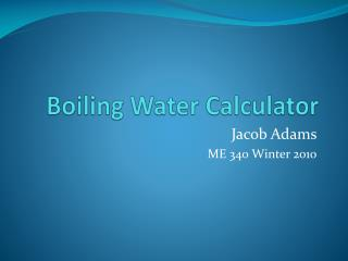 Boiling Water Calculator