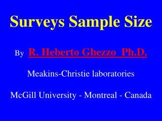Surveys Sample Size