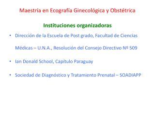Maestría en Ecografía Ginecológica y Obstétrica