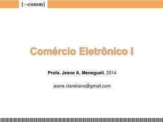 Comércio Eletrônico I