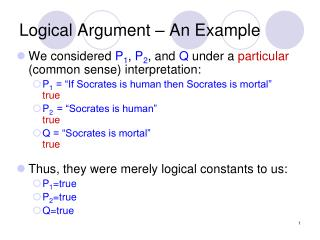 Logical Argument – An Example