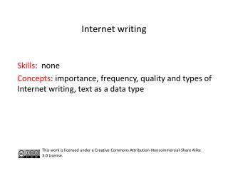 Internet writing