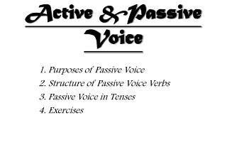 Active &Passive Voice