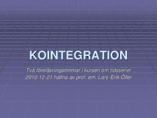 KOINTEGRATION