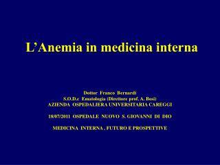 L�Anemia in medicina interna