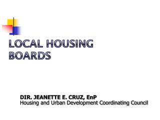 Local Housing Boards