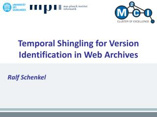 Temporal Shingling for Version Identification in Web Archives