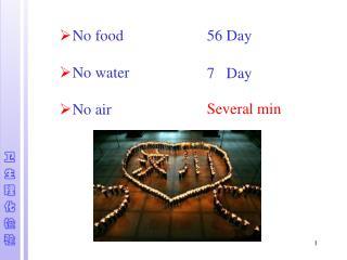 No food  No water No air