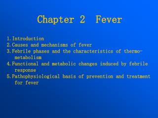 Chapter 2  Fever