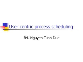 User centric process scheduling