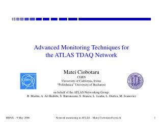 Advanced Monitoring Techniques for  the ATLAS TDAQ Network