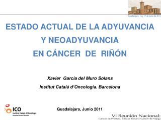 ESTADO ACTUAL DE LA ADYUVANCIA Y NEOADYUVANCIA EN CÁNCER  DE  RIÑÓN Xavier  García del Muro Solans