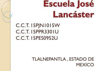 Escuela José Lancáster