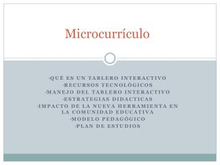 Microcurrículo