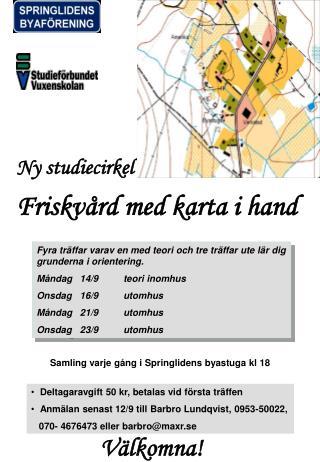 Ny studiecirkel Friskvård med karta i hand