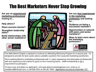 The Best Marketers Never Stop Growing