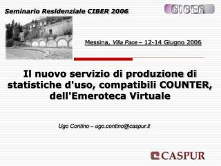 Il nuovo servizio di produzione di statistiche d'uso, compatibili COUNTER, dell'Emeroteca Virtuale