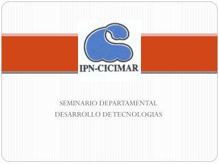 SEMINARIO DEPARTAMENTAL DESARROLLO DE TECNOLOGIAS
