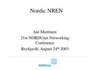 Nordic NREN