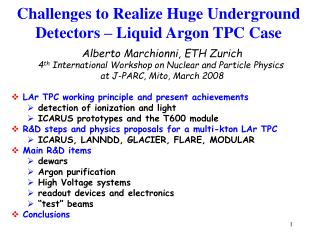 Challenges to Realize Huge Underground Detectors – Liquid Argon TPC Case