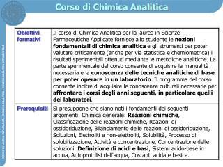 Corso di Chimica Analitica