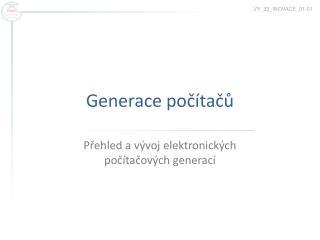 Generace počítačů