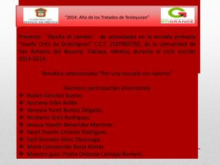 """""""2014. Año de los Tratados de Teoloyucan"""""""