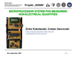 MICROPROCESSOR SYSTEM FOR MEASURING  NON-ELECTRICAL QUANTITIES