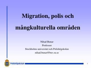 Migration, polis och mångkulturella områden