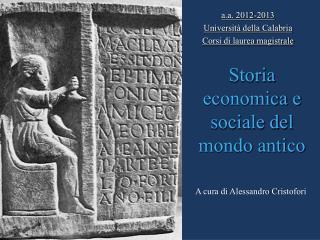 Storia economica e sociale del mondo antico